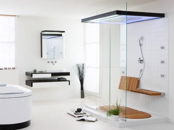 Decoración de baños con ducha