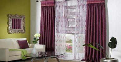 Decoración de cortinas para dormitorios