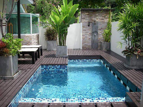 Decoración de piscinas y jardines