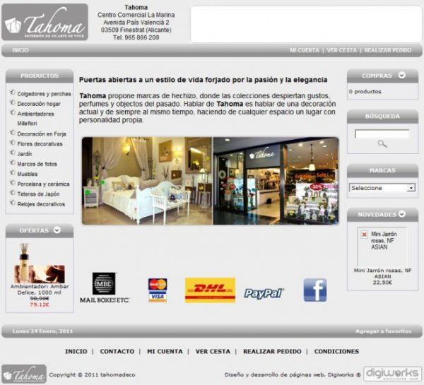 Tiendas de decoracion online
